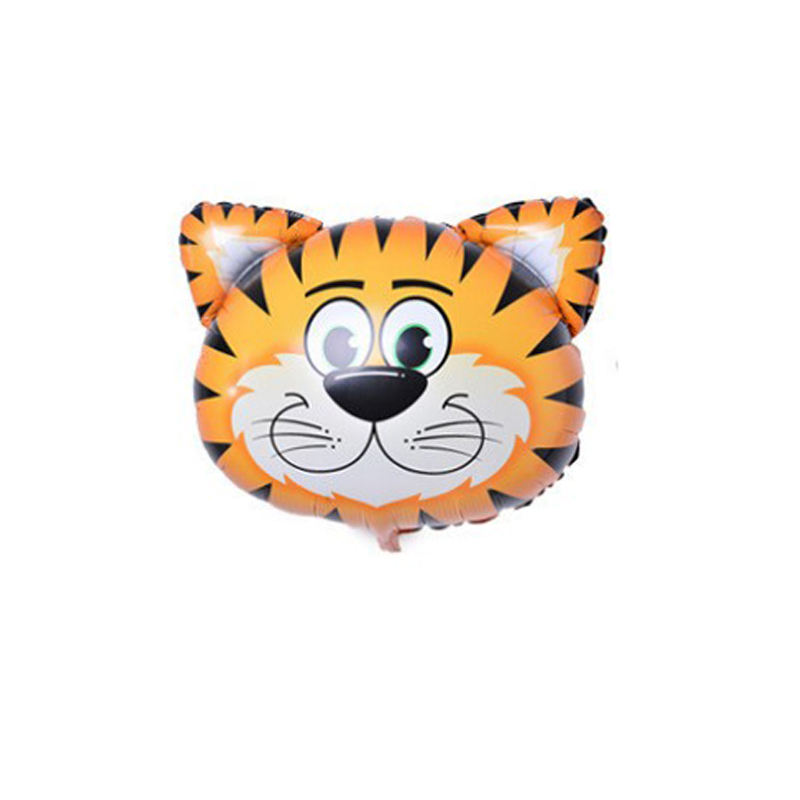 Wholesale Foil Balloons Party Decorations Kids Baby Shower Party Supplies Animal Head Tiger Helium Balloon