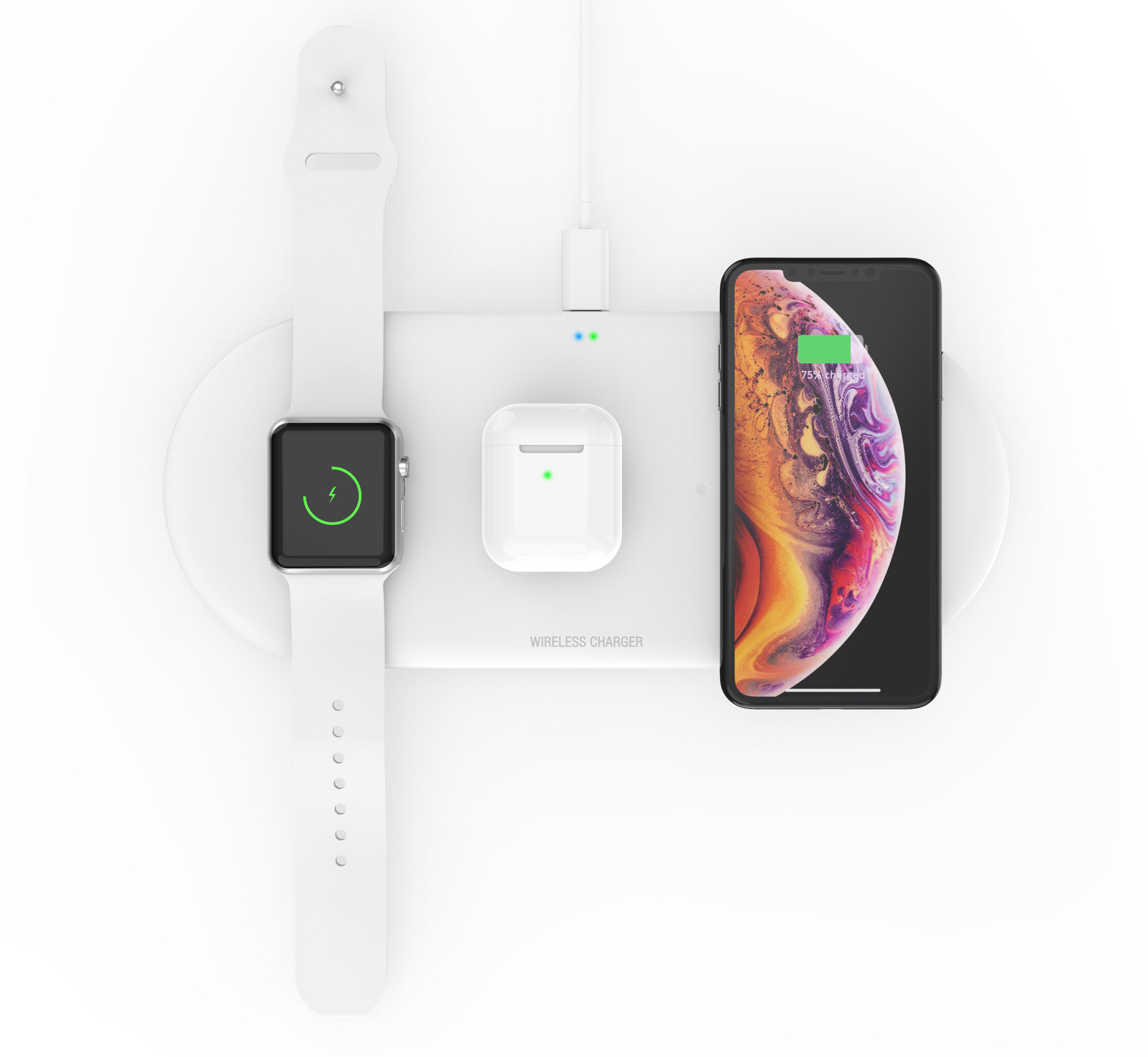 New product ideas 2021 3 in 1 wireless charger stand 10W wireless charging station for iphone for iwatch for Airpods
