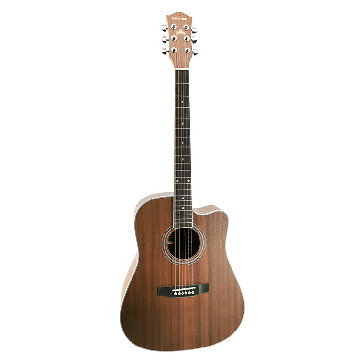 "Wholesale 41"" Mahogany Die-Cast Steel String Acoustic Guitar for Beginner"
