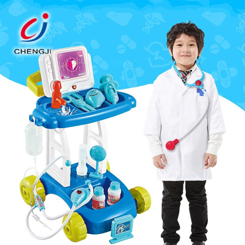 Gift educational funny medical kit role play set kids doctor play set toys