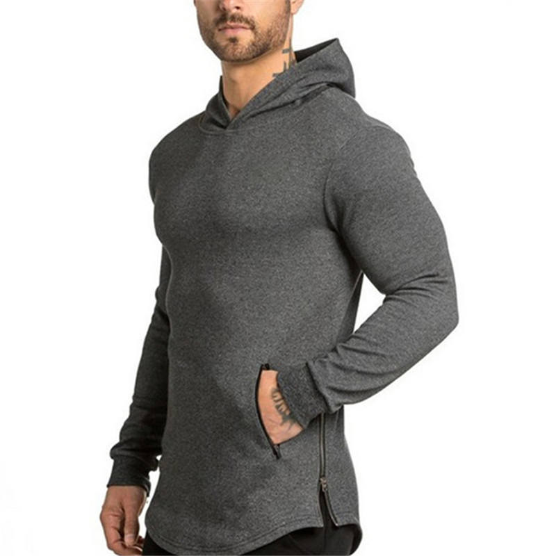 Wholesale Custom Fitness Sports Pullover Hoodies GYM Running Men's Sweatshirt With Hood