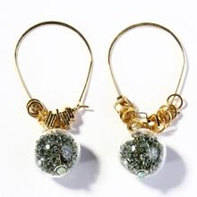 2020 wholesale european popular  fashion jewelry handmade colorful crystal glass ball pendant  women gift earring