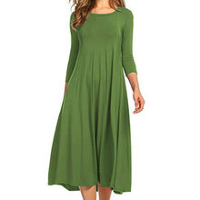 wholesale Women's Long Sleeve Casual Loose T-Shirt Dress round neck swing dress