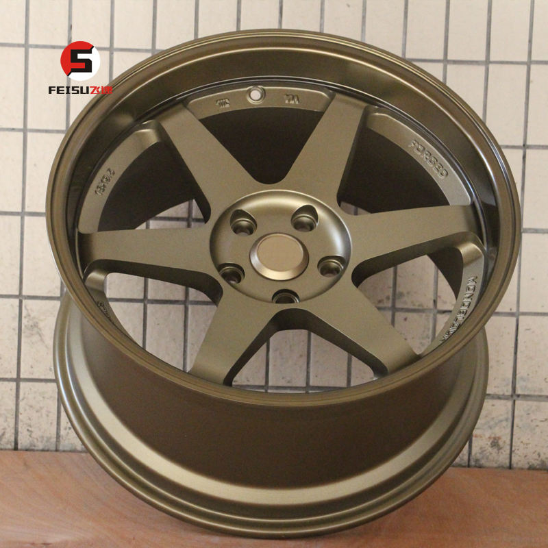 18inch rays TE37 broken size 18*9.5 18*10.5 5*114.3 6*139.7 bronze racing car 4*4 alloy wheels