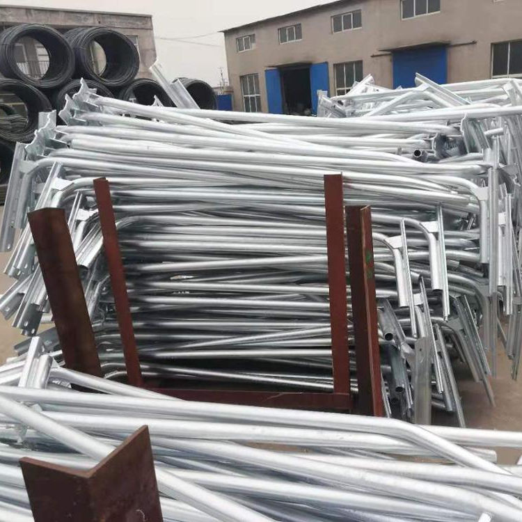 Hot dip galvanized steel pole/lamp post for electric power fitting