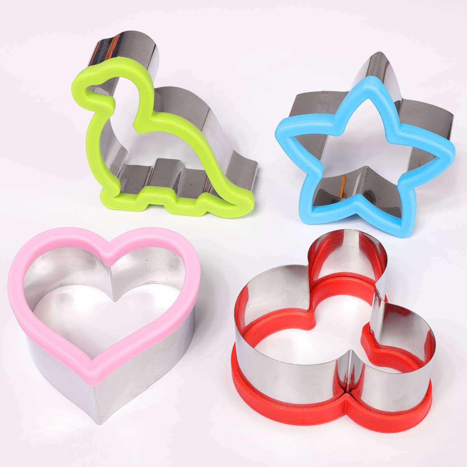 Sandwiches Cutter Mickey Mouse Dinosaur Heart Star Shapes Biscuit Mold for kids Cookie cutter mini tart pan