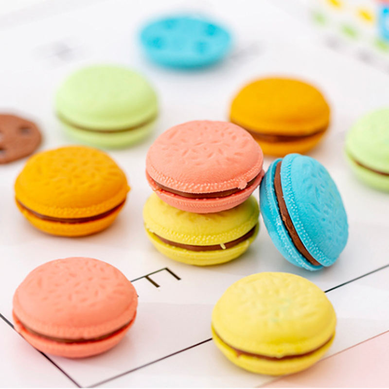 Fashionable cute erasers color cookie shape eraser