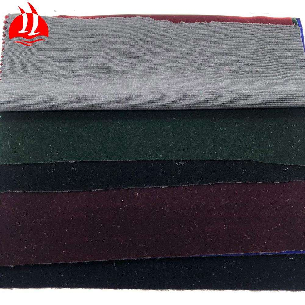 Customized Textile 100% Polyester Bronzin Flocking Sofa Velvet Fabric