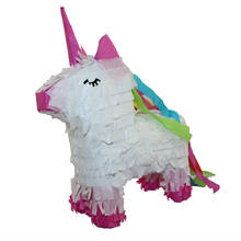 Wholesale Summer Outdoor White And Pink Design Horse Unicorn Shape Paper Pinata for Kid Party