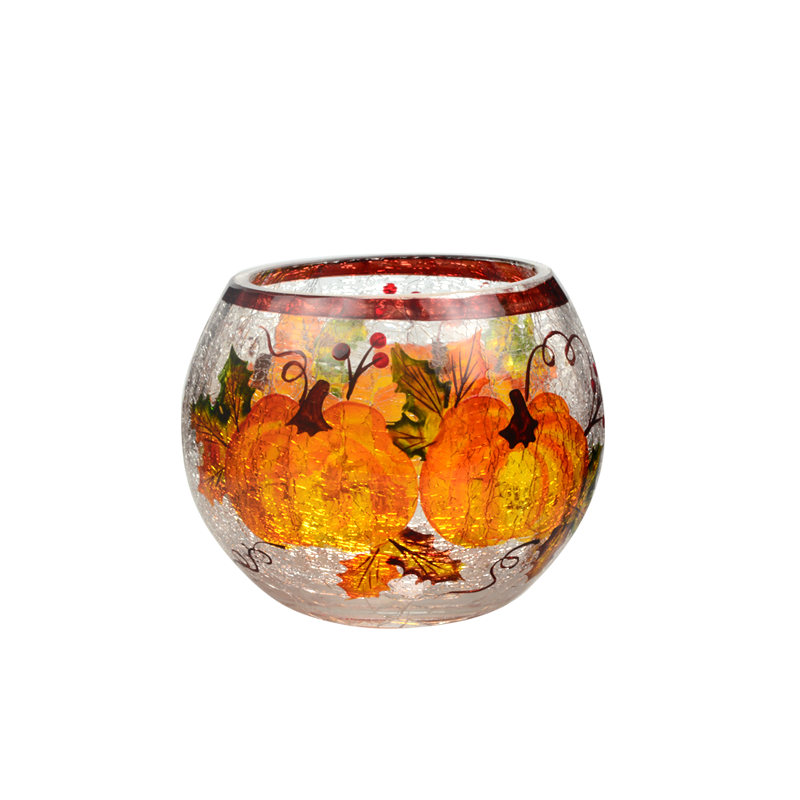 Elegant glass candle jars with hand-painted designs glass candle holder for decoration and gifts