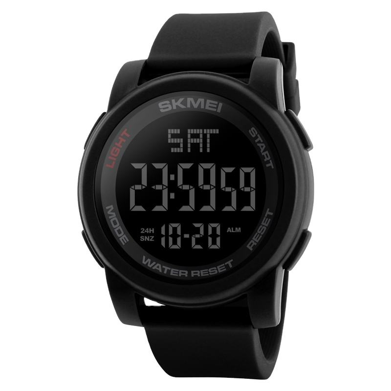 skmei 1257 best selling digital sport watch men 5atm waterproof silicone strap fashion watches OEM/ODM welcomed