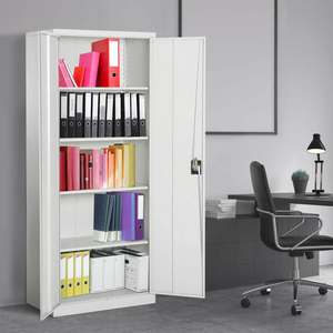 Storage assembled filing cabinet metal steel office wardrobe 2 door steel drawer cabinet for clothes