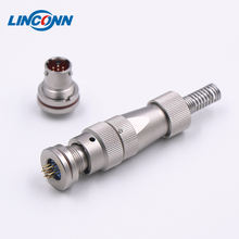 aviation application solder cable electrical mini plug connector 4 pin 8 pin M12 M16 connector
