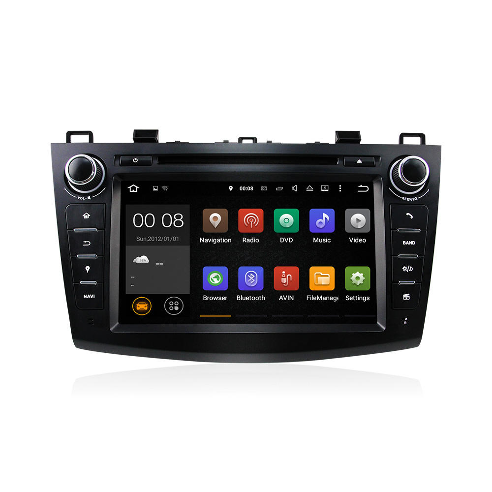 Newest 3G/4G WiFi 8 zoll 2 Din Touch Screen Quad Cord Android 5.1 Stereo Car Audio <span class=keywords><strong>DVD</strong></span> Player For New Maz da 3 (2011-2016)