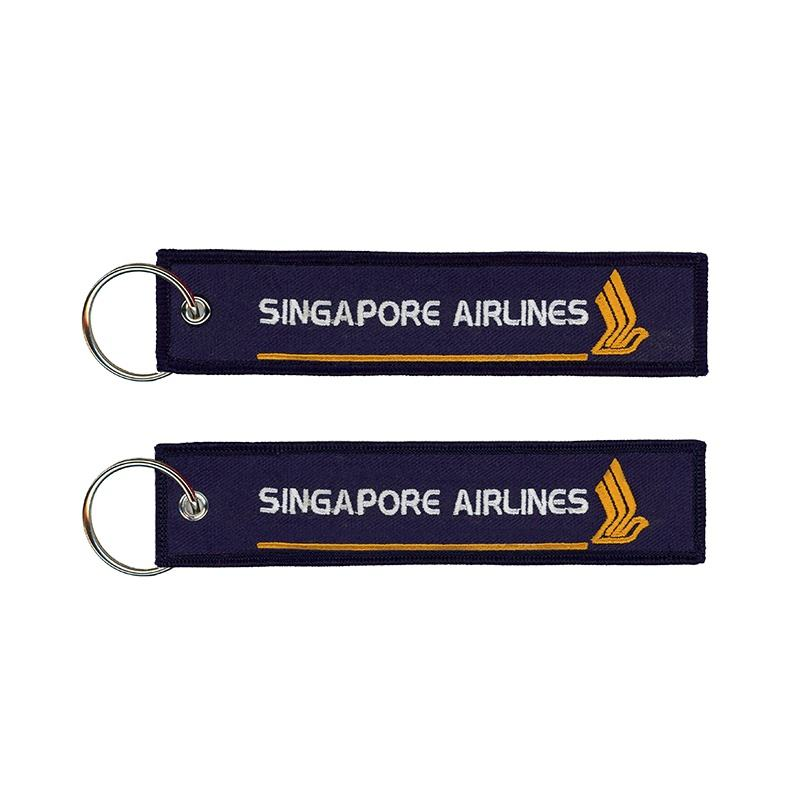 Hoge kwaliteit <span class=keywords><strong>custom</strong></span> <span class=keywords><strong>sleutelhanger</strong></span> Singapore airlines geborduurde <span class=keywords><strong>sleutelhanger</strong></span>