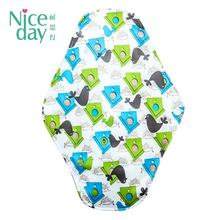Printed colorful cloth menstrual pads wholesale reusable period pads washable sanitary pads