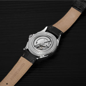Automatic Custom Genuine Leather Band Watch 3ATM Sapphire