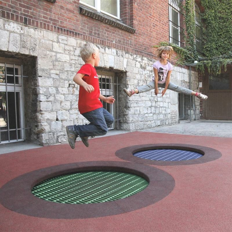 Qunzhen Customized Park Colorful Design Kids Trampoline Outdoor Garden Trampoline