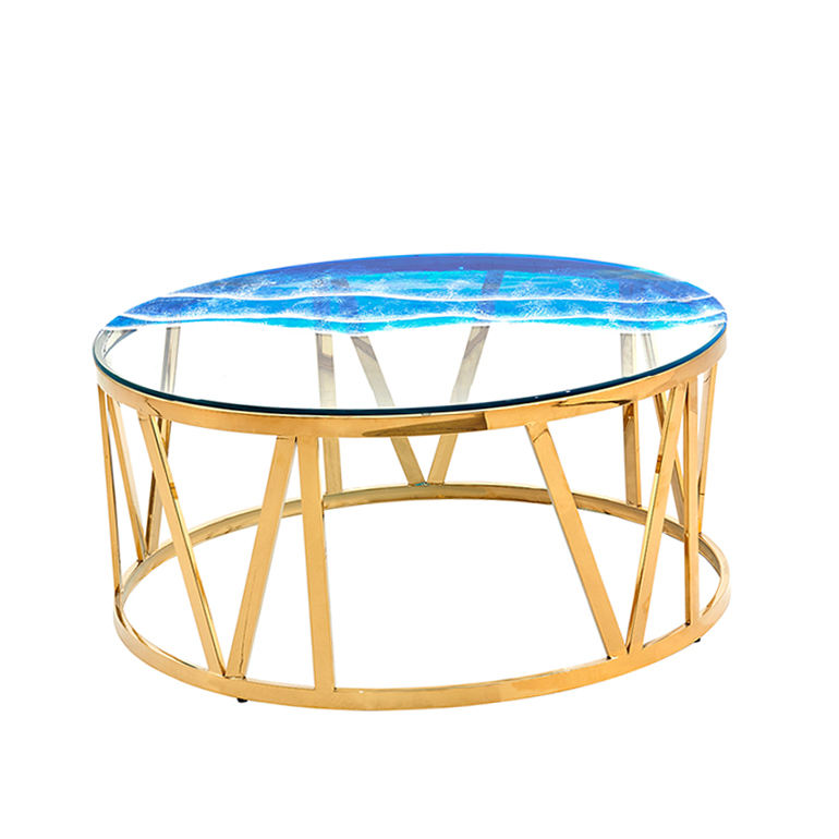 new golen modern marbling round modern luxury marble side oriental mini plastic round coffee tea table 2021