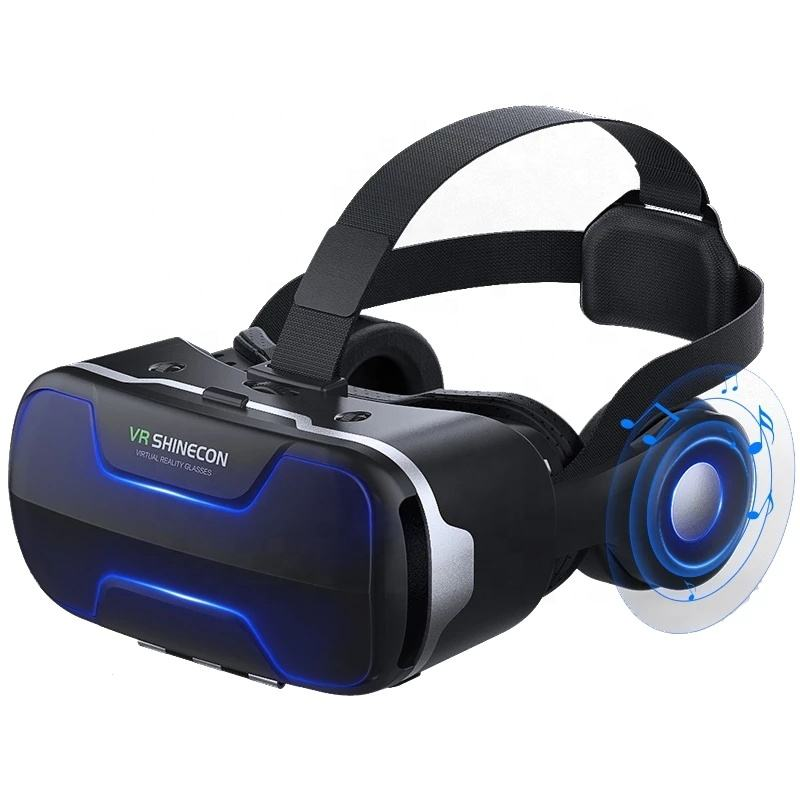 3D VR eye protection 3D glasses virtual reality headset helmet goggles enhanced mobile phone lens