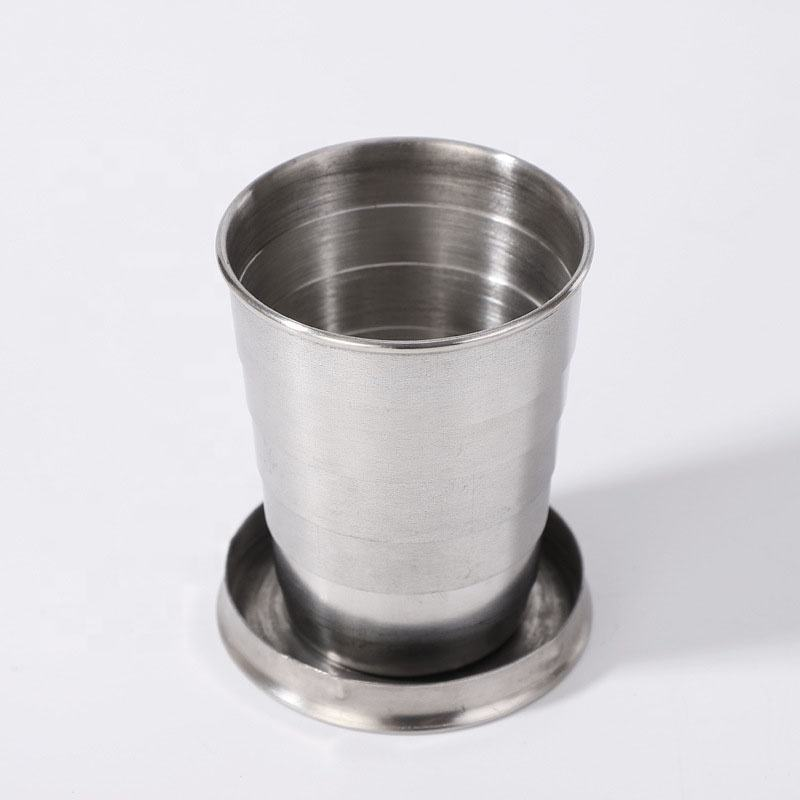 75ml Stainless Steel Portable Outdoor Folding Cup Small Wine Glass Collapsible Shot Glass
