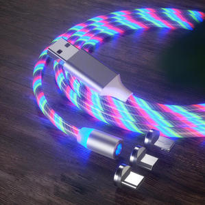 FLEXI 3 in 1 LED light USB Luminous Glow Flowing Magnetic Charging Cable