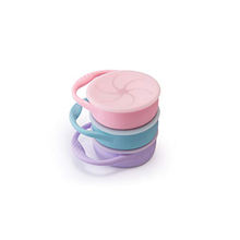 Spill Proof Collapsible Foldable Cup Silicone Baby Snack Container Kids Food Storage Container