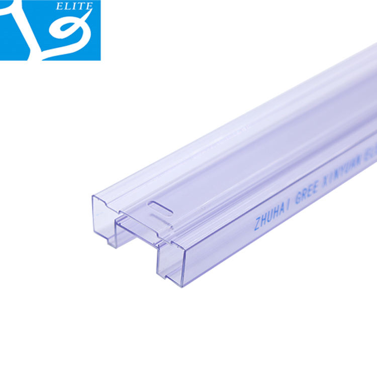2020 ELITE Transparent Clear Ic Plastic Packaging Tubes Extruded Plastic Tube