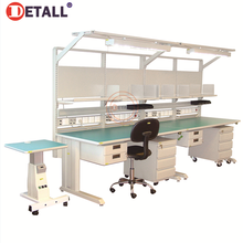 factory produced stainless steel esd modular repairing drawer workbench workstation work table for electronics manufactured lab