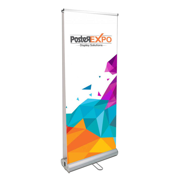 Moving intrekbare verticale roll-up banner stand Guangzhou