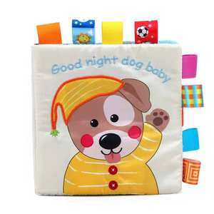 Baby Education Memory Toys Handmade Cartoon Soft Cloth Book