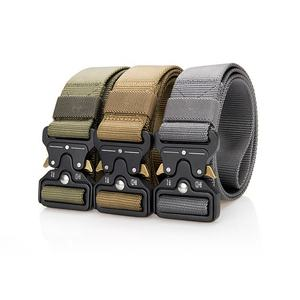 Black OD Green Tan Equipment Police Custom Logo 2019 Tactical Army Belt New with Alloy Buckle