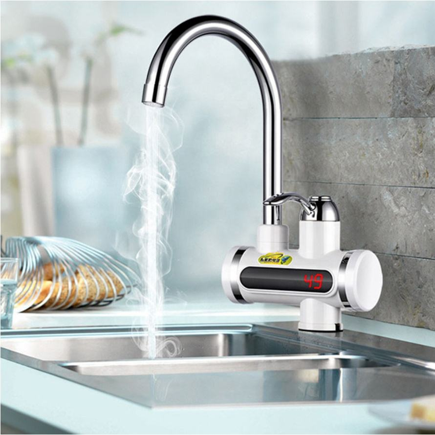 Kitchen Electric Instant Heating Hot Water Faucet Tap Instant Electric Water Heater Tap