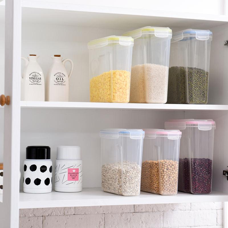 deposito di Riso con Coperchio Color : Red, Size : 25 * 25 * 39cm Accessori da Cucina Distributore di cereali Serbatoio di Riso Contenitore di Ceramica