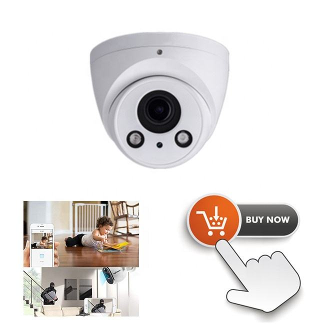 Da hua H.264 2MP WDR Varifocal lens IR Eyeball Network Camera Support SD Card IPC-HDW2221R-ZS