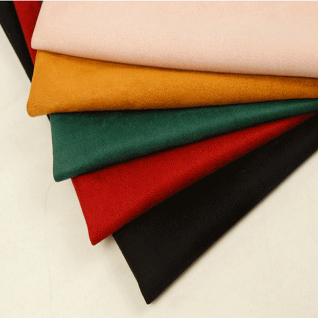 China Factory Wholesale Recycled RPET Suede Printed Fabric