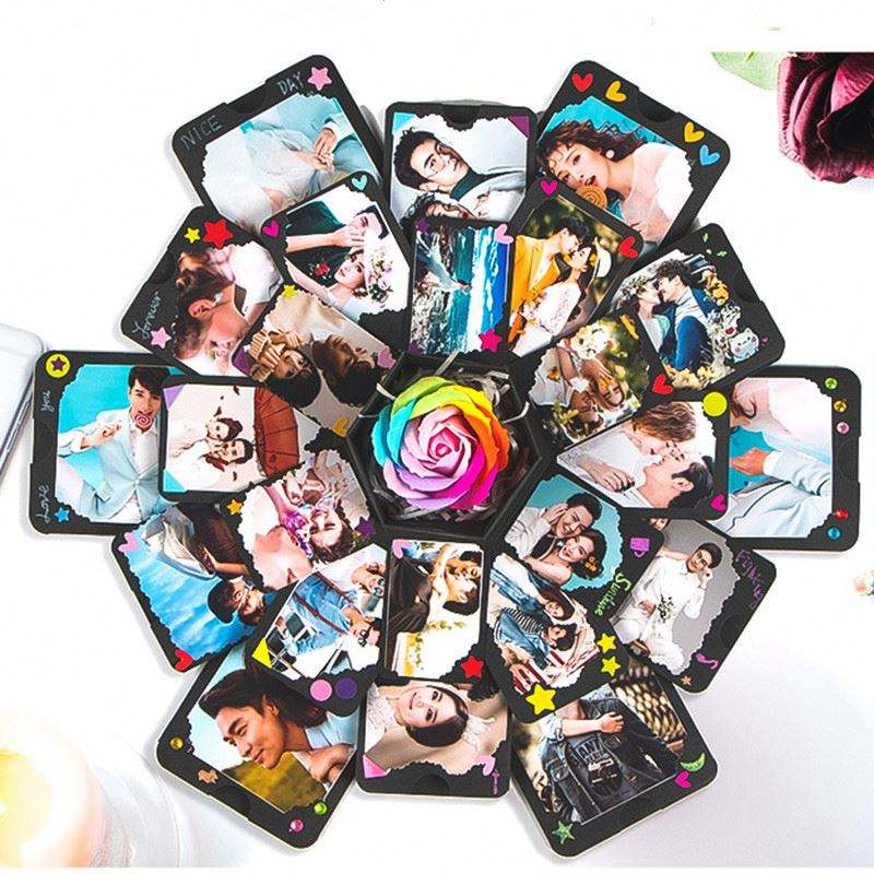 Wholesale creat Diy Surprise Love Explosion Box Gift Explosion For Anniversary Scrapbook Diy Photo Album Birthday Gift