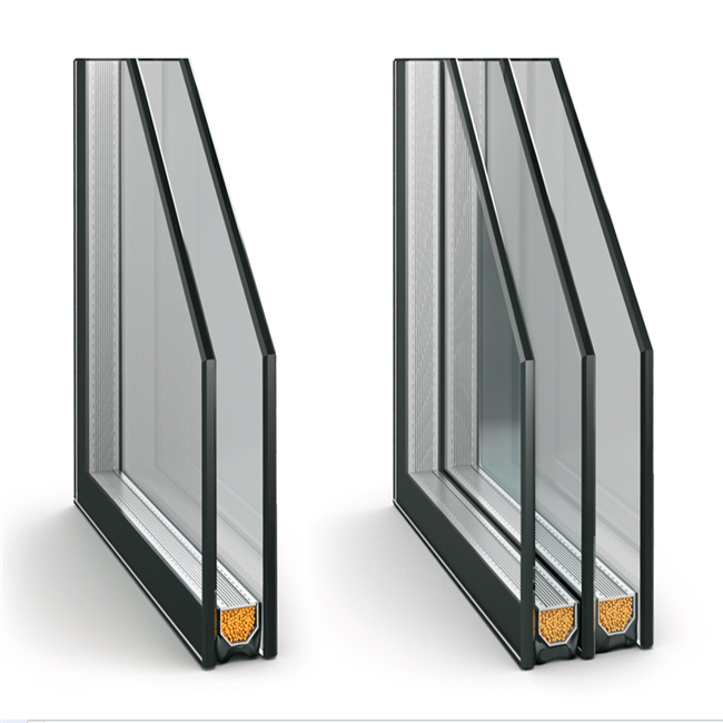 Glass price for Solarban 60 low-e glass facade wall double glazing glass units price cost