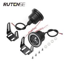 RUTENSE auto cob angel eyes fog light 89mm 76mm 64mm car daytime running angel ring led fog lamp