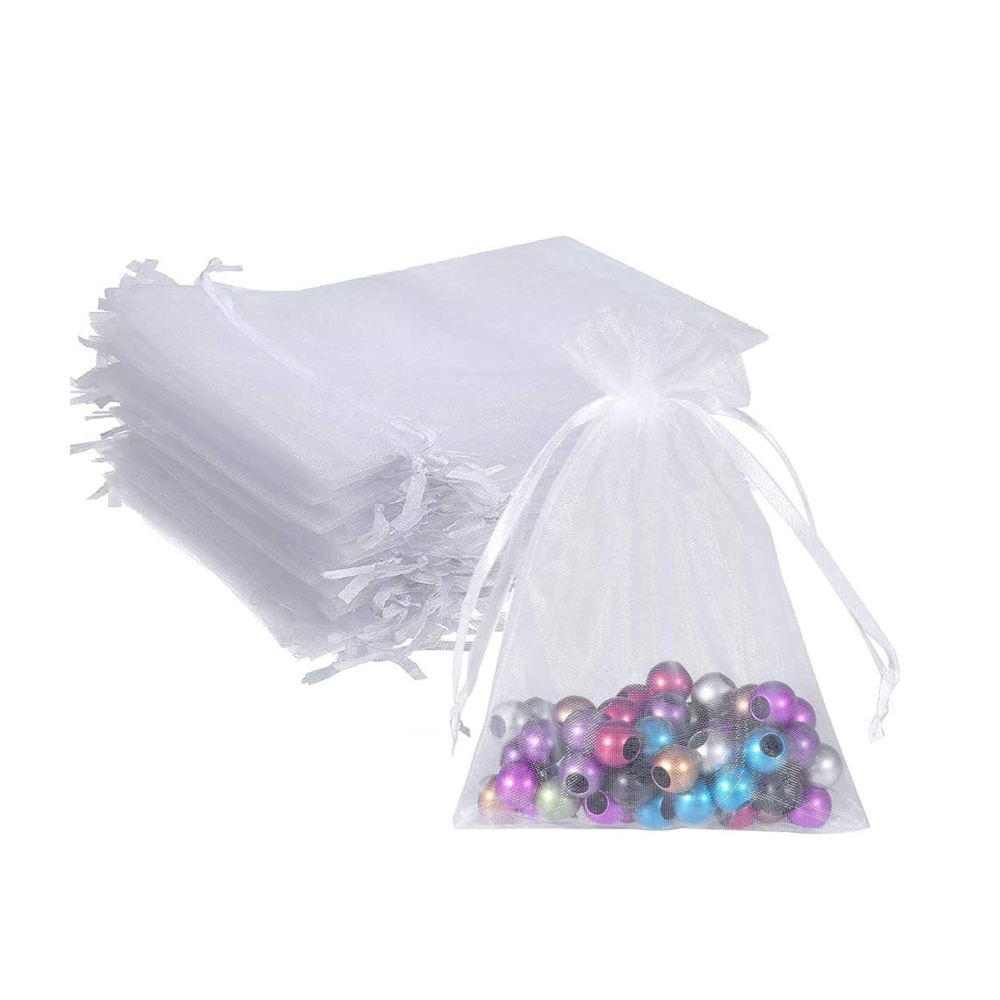 Ready to Ship Drawstring Jewelry Organza Gift Bags Mesh Pouches for Wedding Party Christmas Gifts Candy Bags