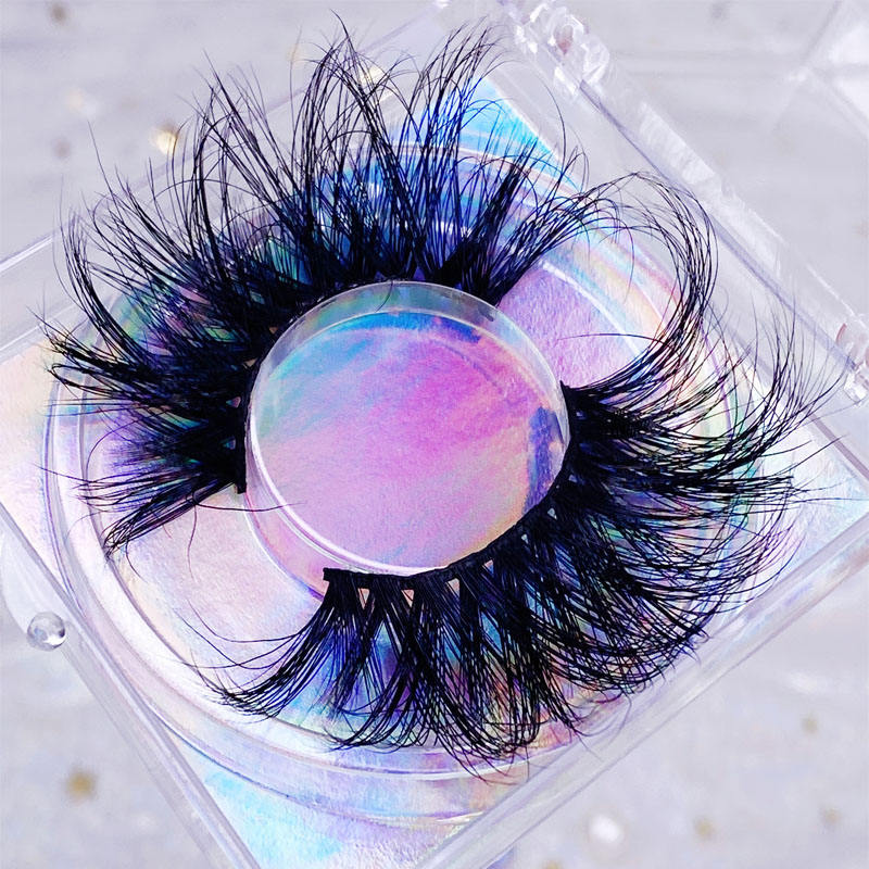 100% Mink Fur 25mm False Eyelashes Wholesale Private Label Customize Packaging Real 3D Mink Eye lashes