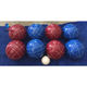 China manufactory colorful outdoor game resin bocce ball set