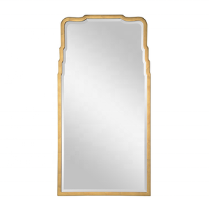 Unique bottle shape golden decoration frame bedroom dressing mirror