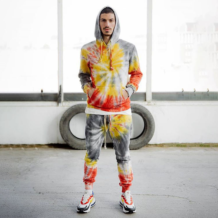 Wholesale Cotton Tie Dye Tracksuits For Men