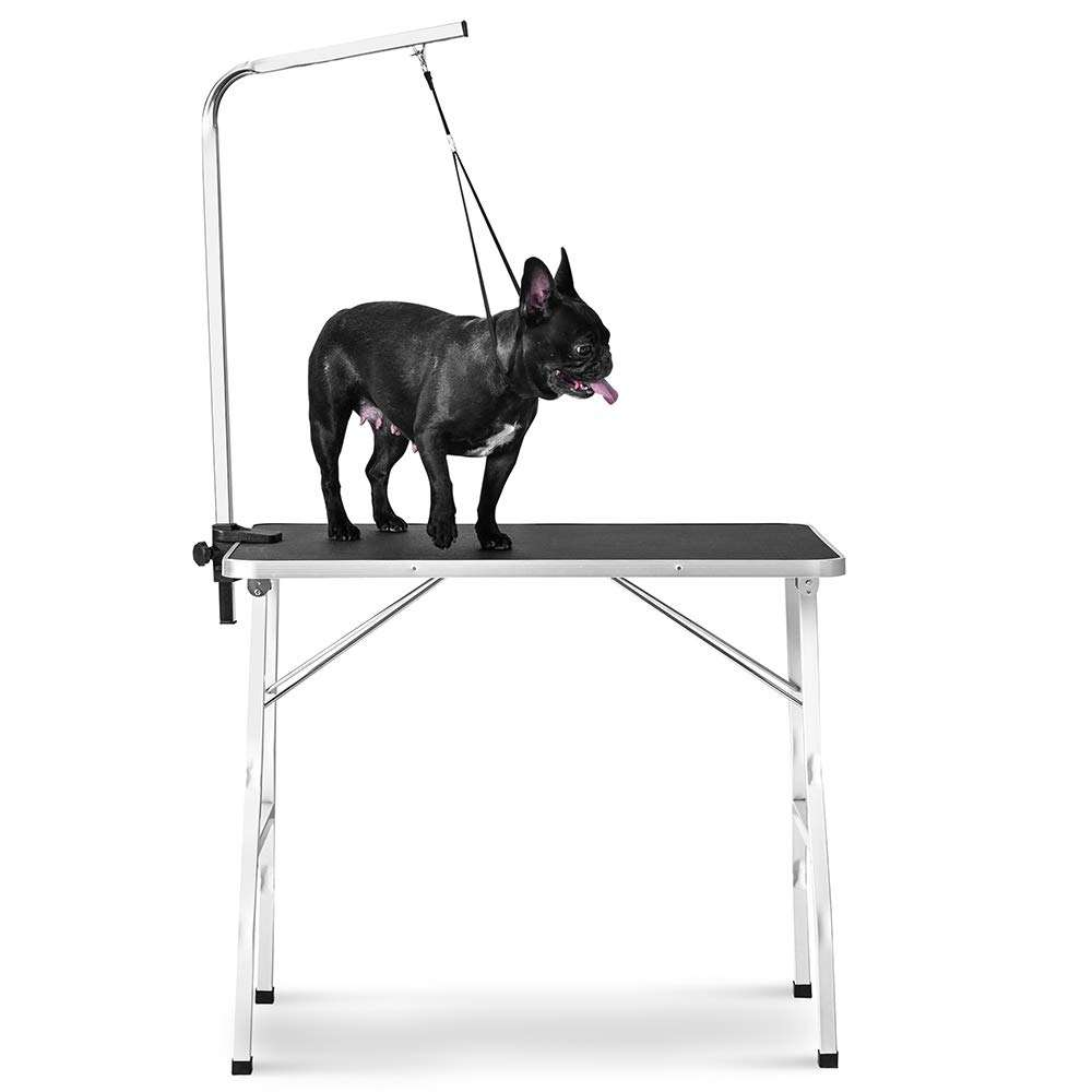 Pet Dog Grooming Table Small 30-Inch Steel Legs Foldable Adjustable Professional Drying Table pet dog grooming table