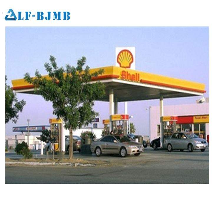 Special Design Prefabricated Steel Structure Petrol Station Canopy