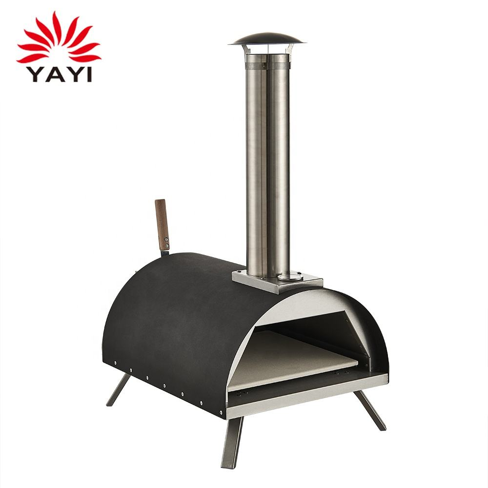 Wood fired Black Pizza Oven Portable Pizza Oven