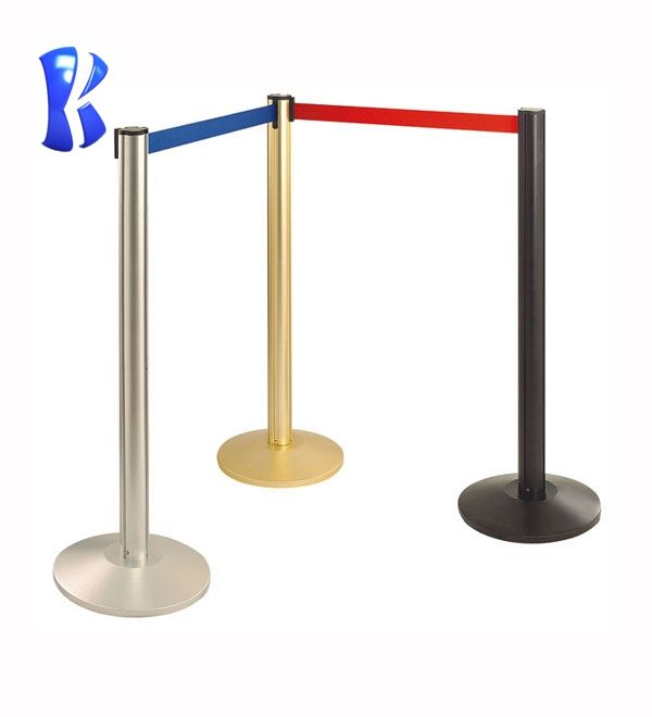 Goede Kwaliteit Crowd Control Queue Management Stanchions Rvs Intrekbare Riem Barrière