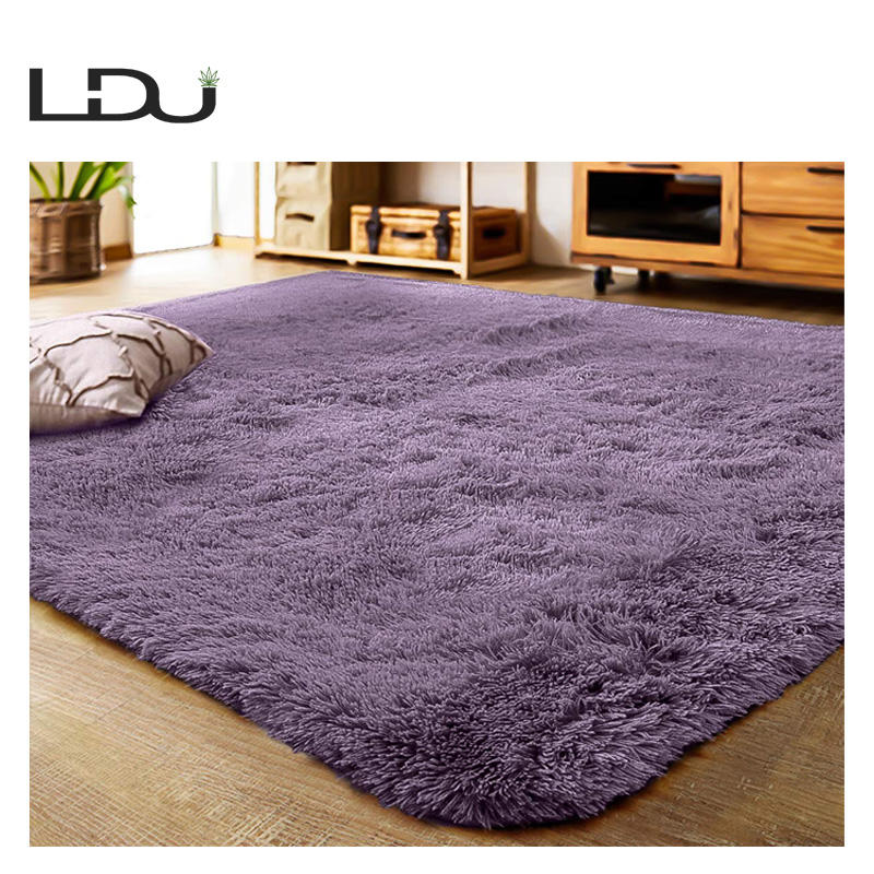 Shaggy Tie Dye Carpet Printed Alfombra Plush Floor Fluffy Mats Kids Room Faux Fur Area Rug Living Room Mats Stock Blanket