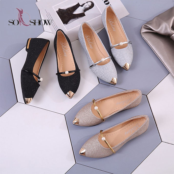 New flat sandals lady shoes wholesale women flat dress shoes